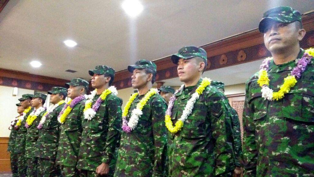 Tim Petembak TNI AD yang Menang di Australia Mendarat di Cengkareng