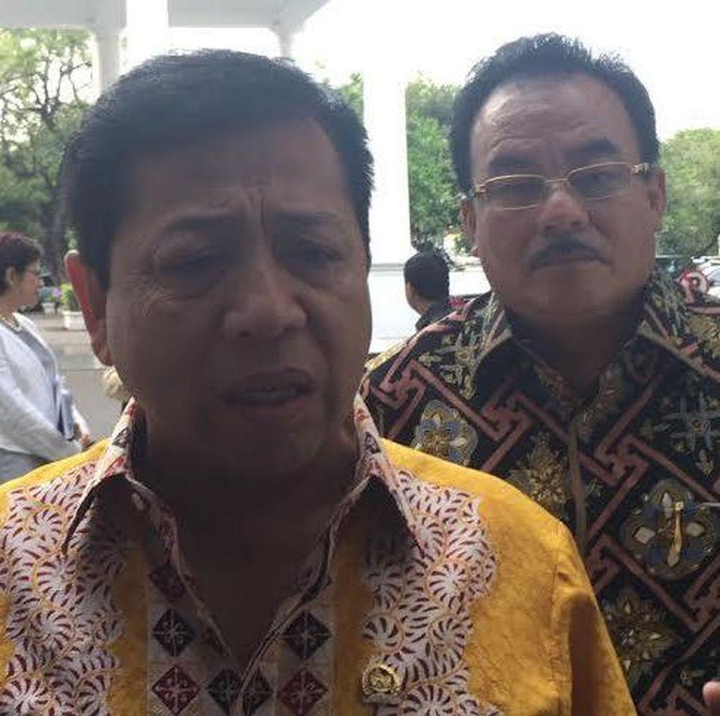 Ical dan Novanto Temui Jokowi di Istana, Setor Nama Calon Menteri?