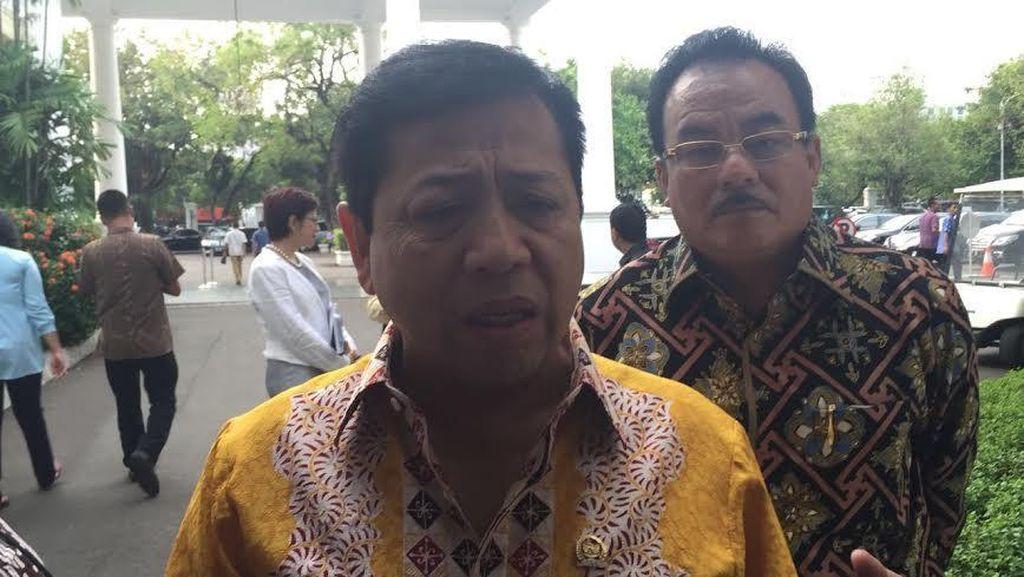 Bertemu Presiden Jokowi, Novanto Bicara Dukungan di Pemilu 2019