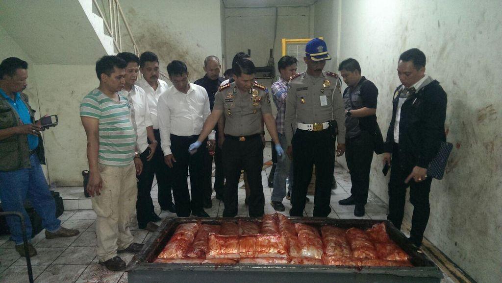 Polres Bandara Soekarno-Hatta Gerebek Gudang 70 Kg Sabu di Tangerang