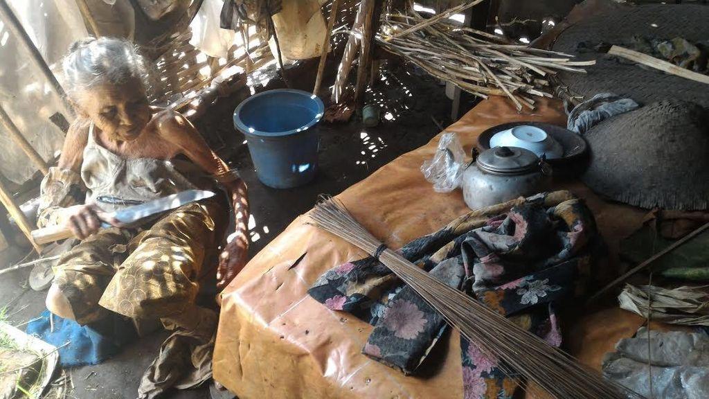 Ini Kondisi Gubuk Reyot Milik Mbah Lasinten yang Hidup Sebatang Kara dan Sakit