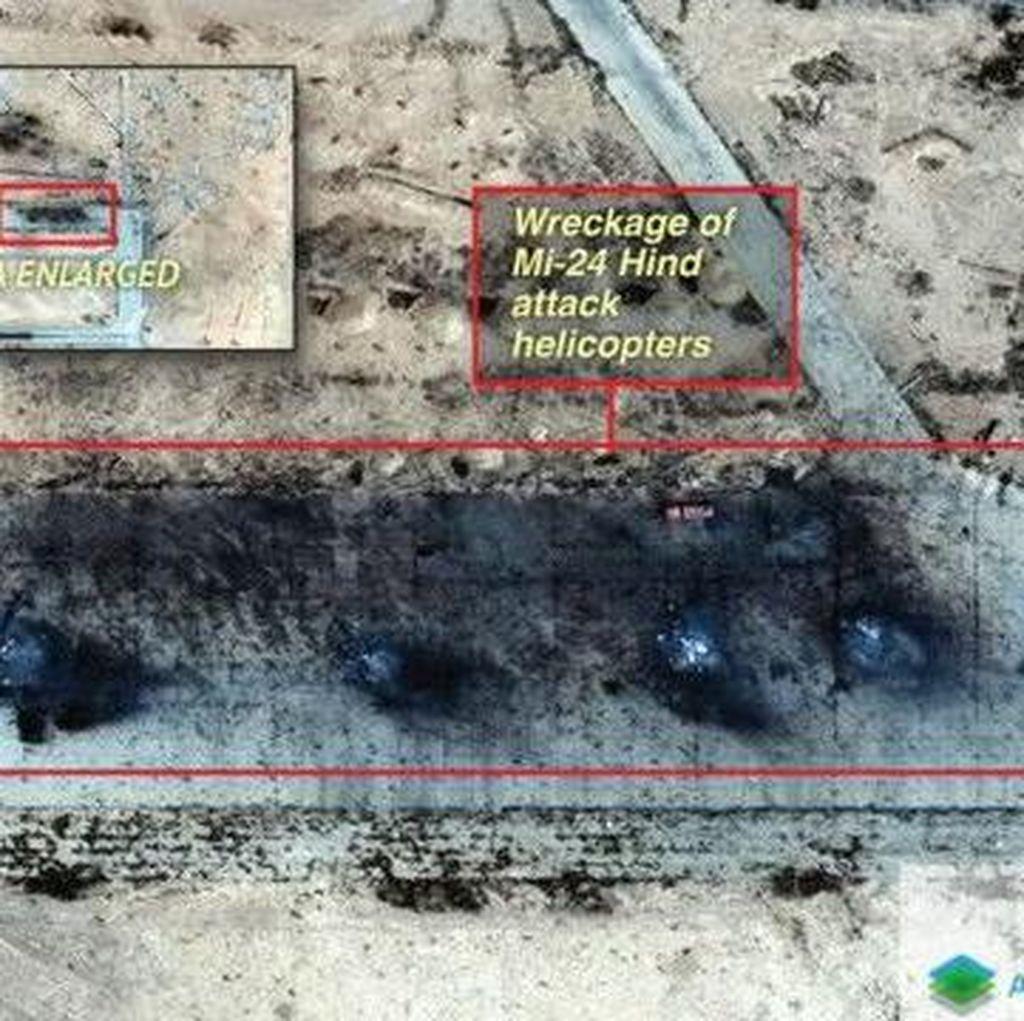 ISIS Membakar Helikopter dan Truk Rusia di Suriah