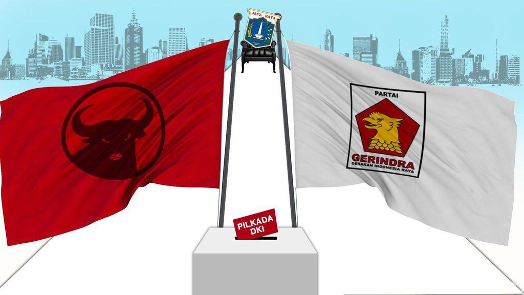 Jajaki Koalisi Pilgub DKI, PDIP-Gerindra Bertemu di Markas Banteng