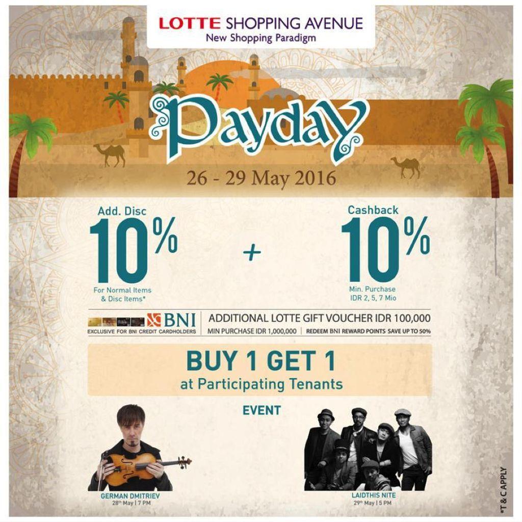 PAYDAY Datang Lagi, Waktunya Makan dan Belanja di Lotte Shopping Avenue
