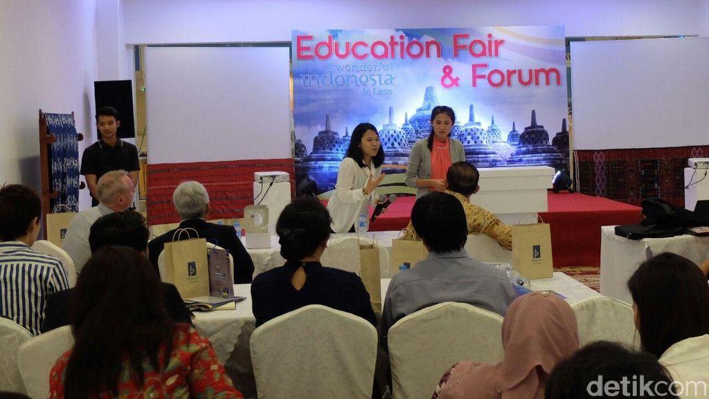 KBRI Gelar Pameran Edukasi, Pelajar Laos Antusias Belajar ke Indonesia