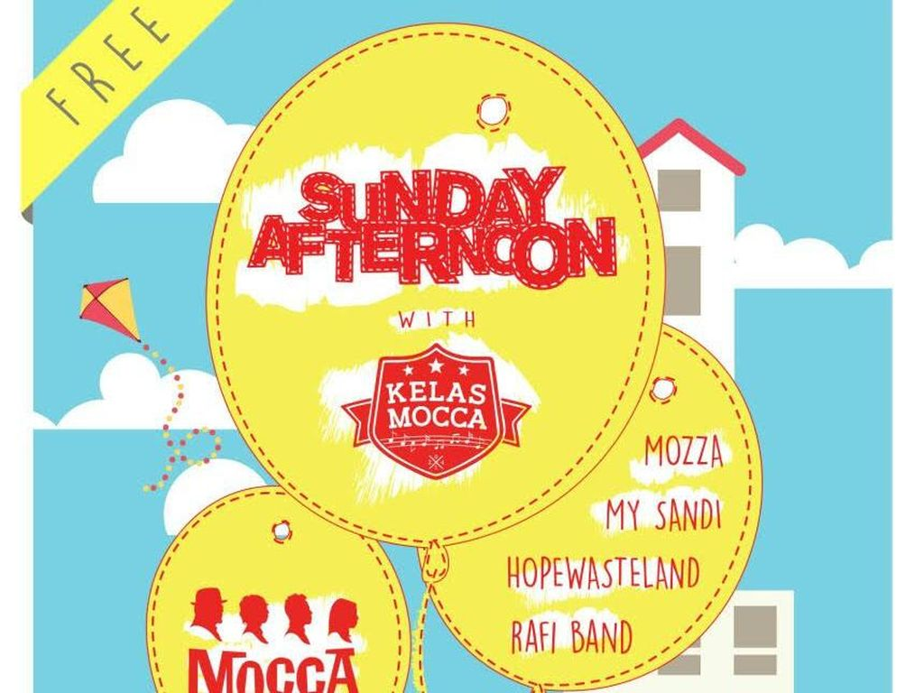 Gerakan Para Fans Mocca di Sunday Afternoon With Kelas Mocca