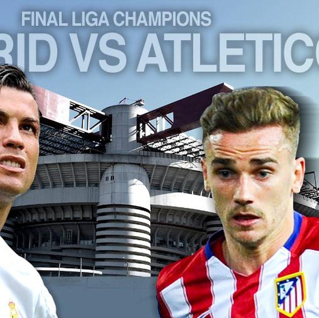 Madrid dan Atletico Sama-sama Turunkan Kekuatan Terbaik