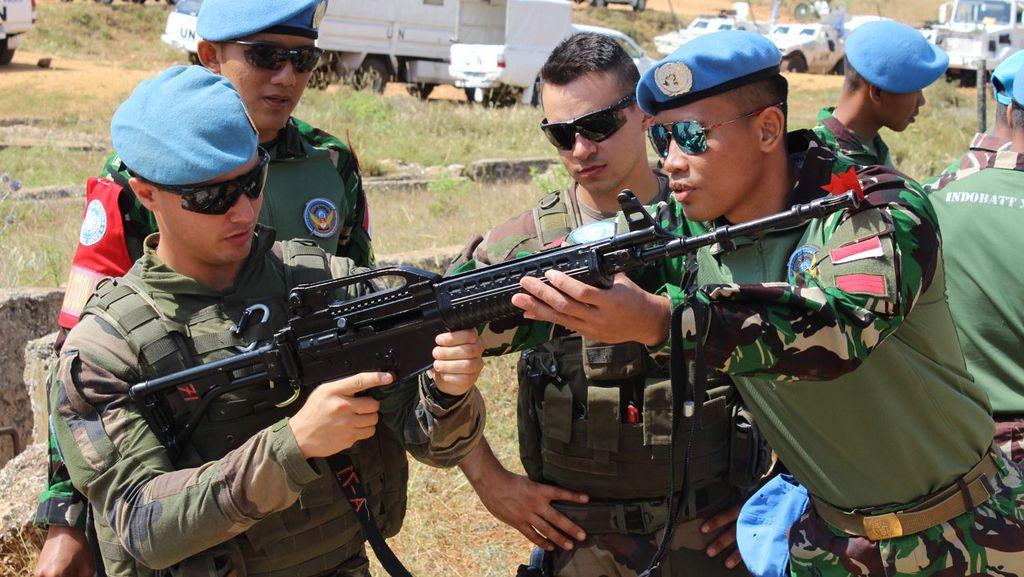 Melihat Latihan Bersama Satgas Indobatt dan Prancis di Libanon