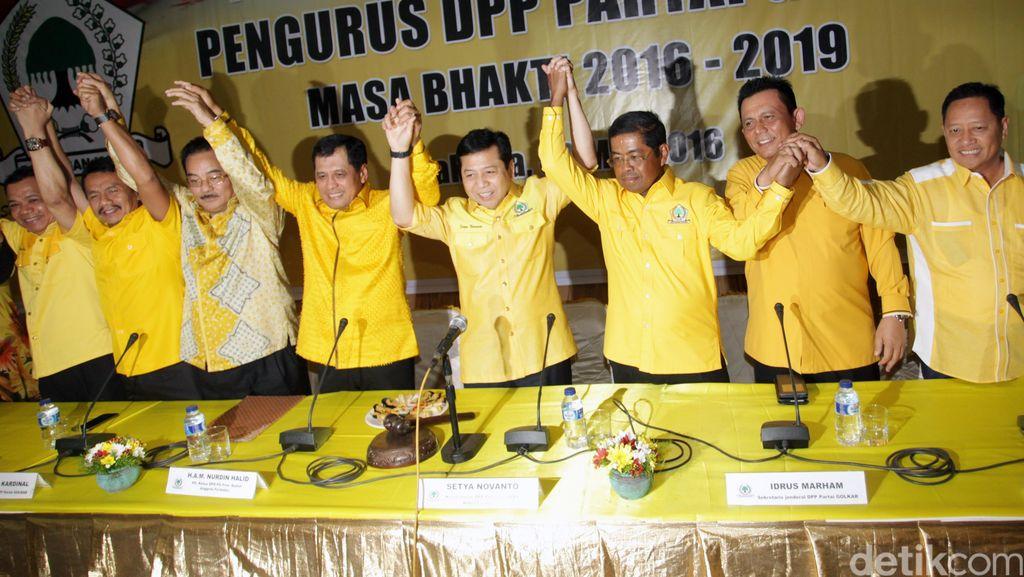 Novanto Umumkan Nama-nama Pengurus Golkar
