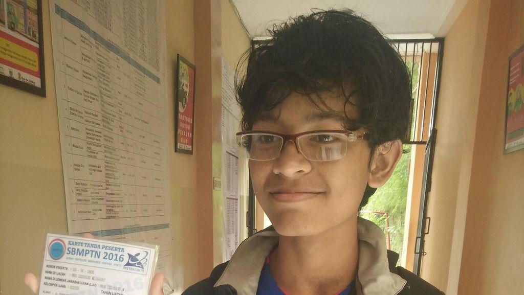 Izzan, Bocah 13 Tahun di Bandung yang Ikut SBMPTN Hari Ini