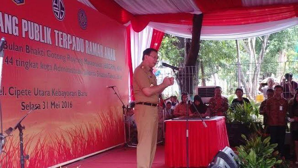 Ahok Resmikan RPTRA Taman Sawo, Hasil CSR Agung Sedayu