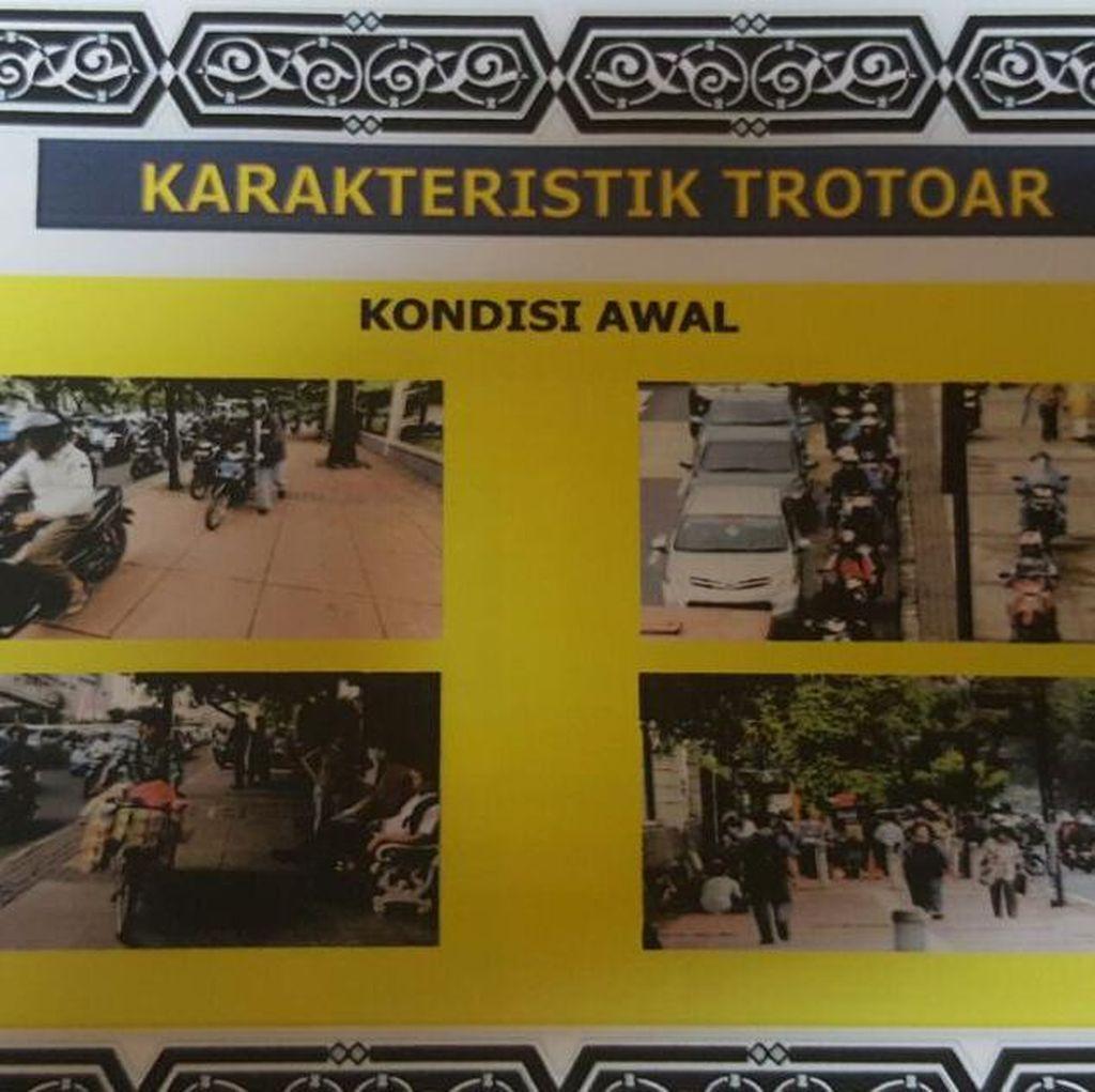 Begini Gambaran Semrawutnya Trotoar di Jalan Protokol di Jakarta