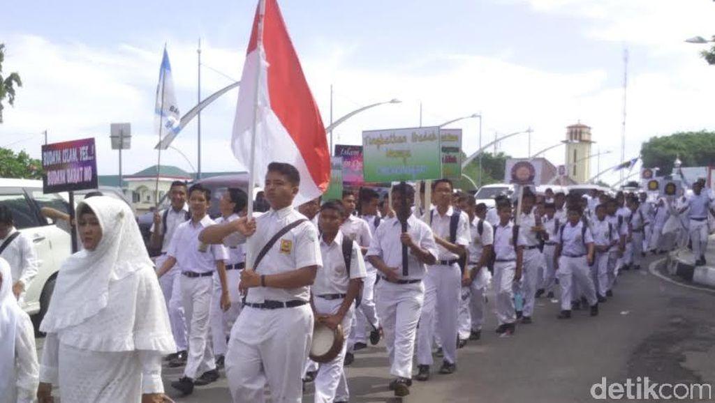 Sambut Ramadan, Ribuan Pelajar di Banda Aceh Pawai Keliling Kota