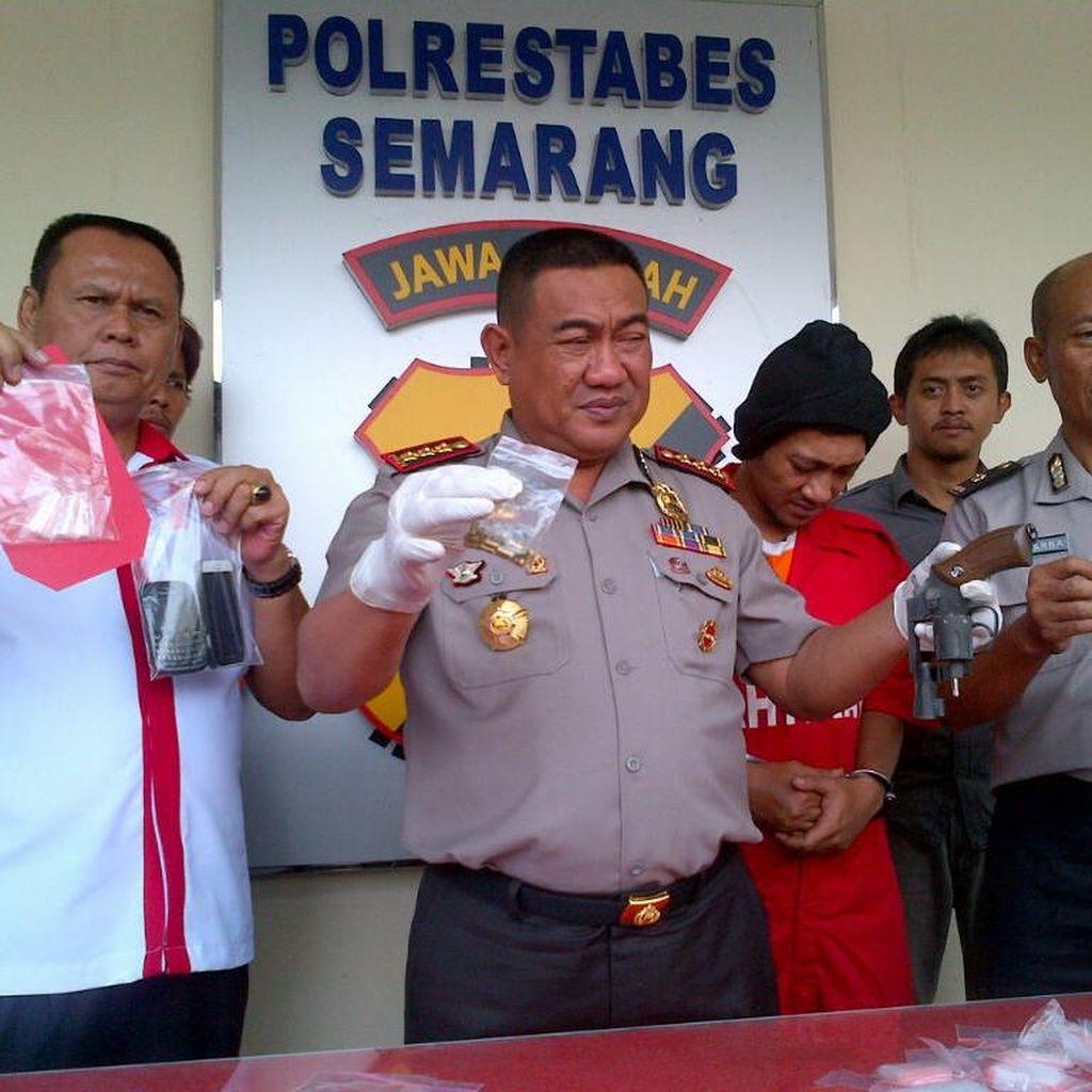 Pengedar Sabu Berpistol Dibekuk Polisi Semarang