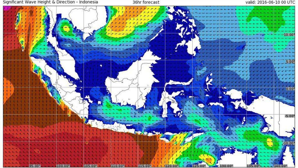 BMKG: 2 Hari ke Depan, Ada Potensi Gelombang Tinggi di Laut Indonesia
