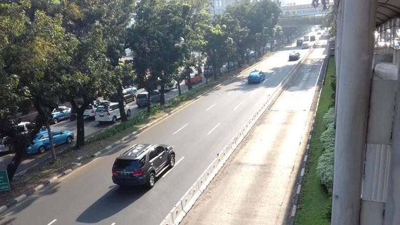 Biasanya Sering Ada Mobil Nakal, Busway Polda Metro-Bundaran Senayan Kini Steril