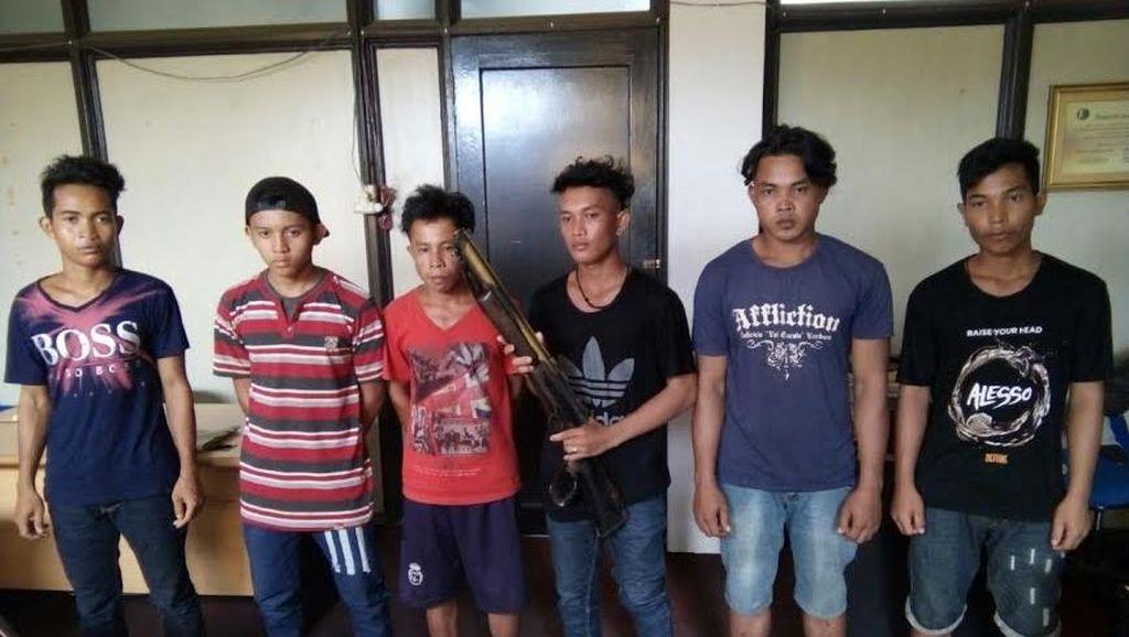 Ini Tampang 6 Pemuda Pembunuh Bekantan dan Senapan yang Digunakan untuk Berburu