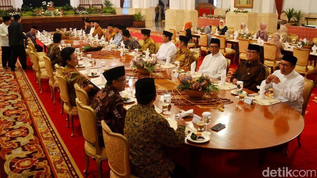 Usai Buka Bersama, Jokowi dan Pimpinan Lembaga Bahas Kualitas UU