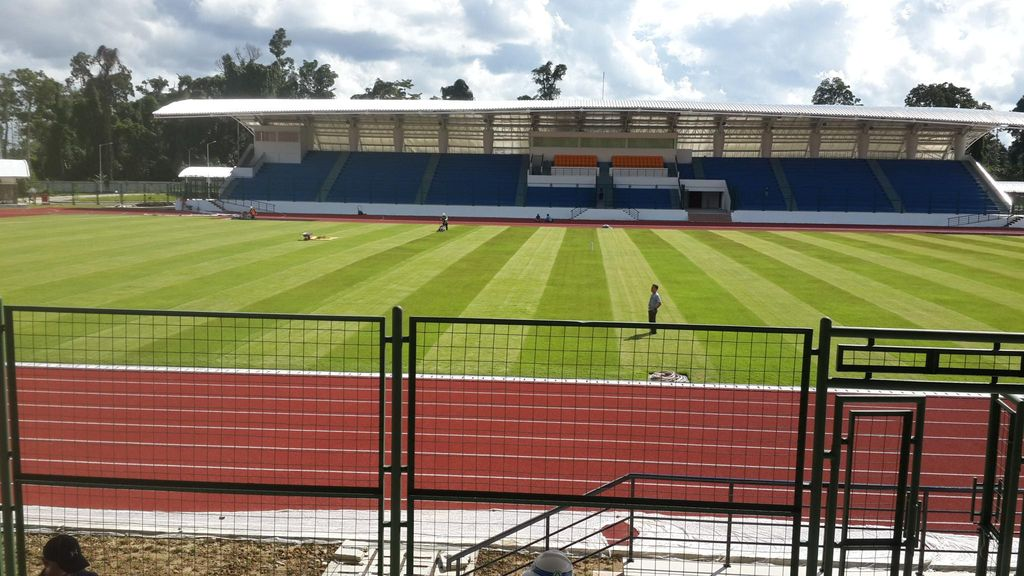 Pembangunan Stadion Atletik di Mimika untuk PON 2020 Hampir Rampung