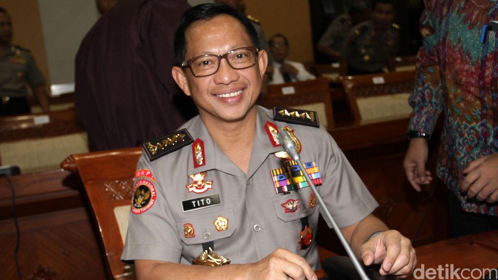 Presiden Jokowi Lantik Komjen Tito Sebagai Kapolri Hari Ini