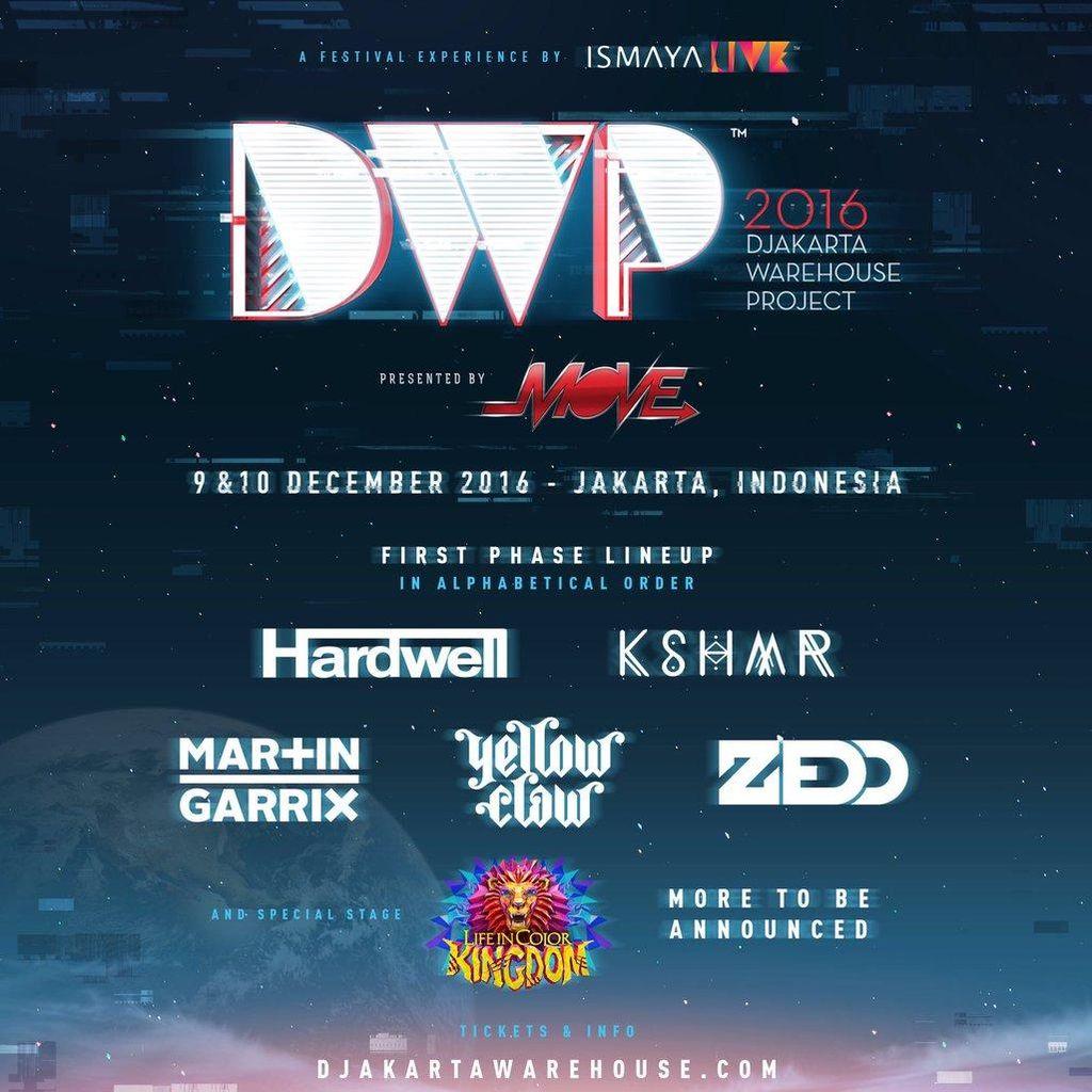 Zedd Hingga Hardwell Lineup Pertama DWP 2016