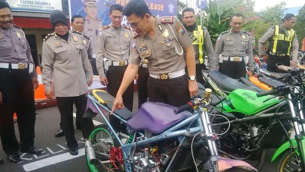Polisi Amankan 43 Motor yang Digunakan Balap Liar