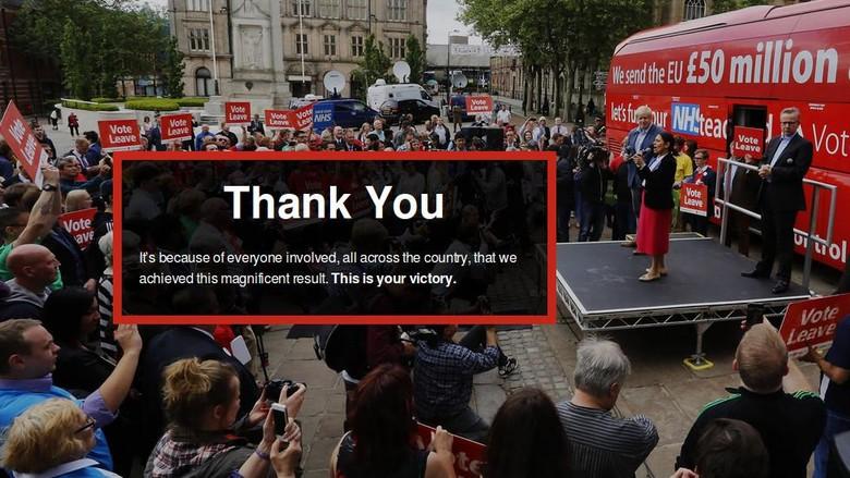 Bikin Warga Inggris Tertipu, Kampanye Brexit Soal 350 Juta Pounds Dihapus