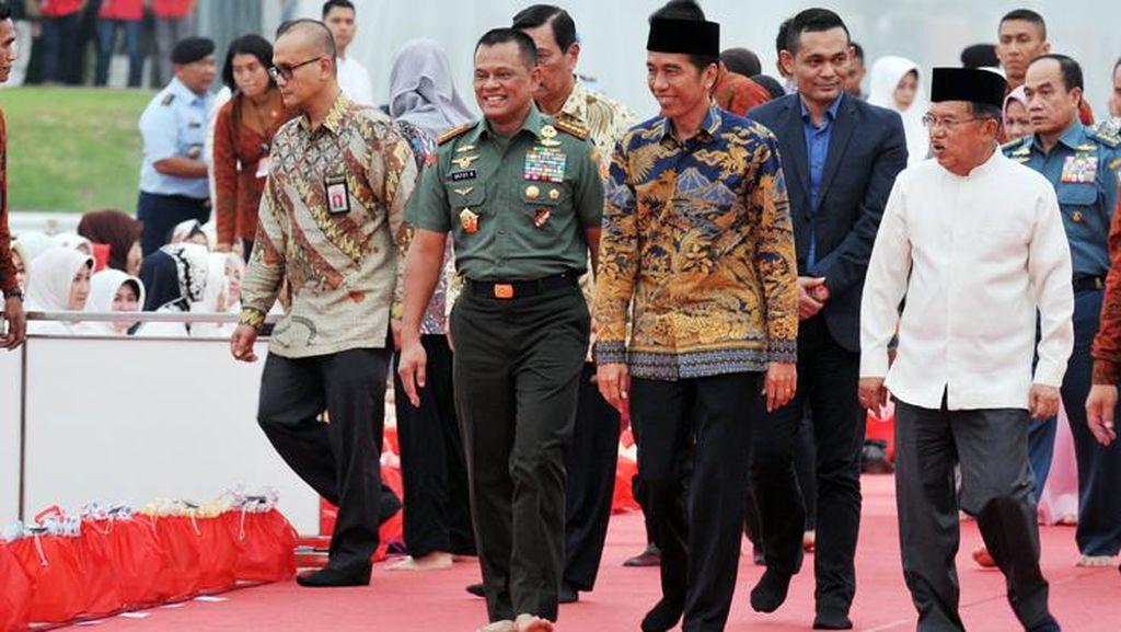 Jokowi-JK Hadiri Buka Puasa dan Syukuran HUT Bhayangkara ke-70 di Mabes Polri