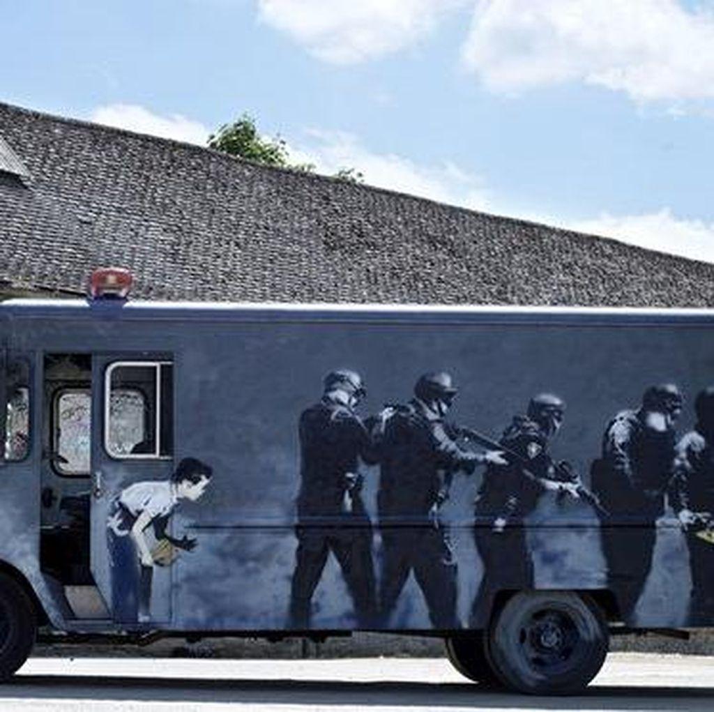 Van Semprot Banksy Dilelang Rp 5,2 Miliar