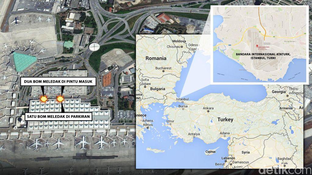 Bandara Ataturk Ditutup Setelah Teror, Singapore Airlines Putar Balik