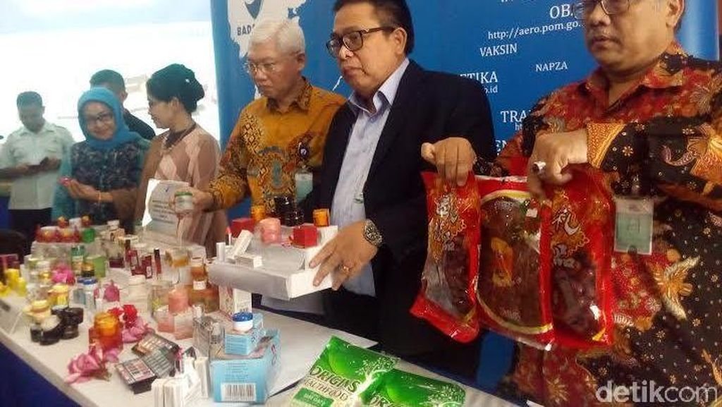 BPOM Sita Ribuan Kosmetik Ilegal dan Kedaluwarsa Bernilai Miliaran Rupiah