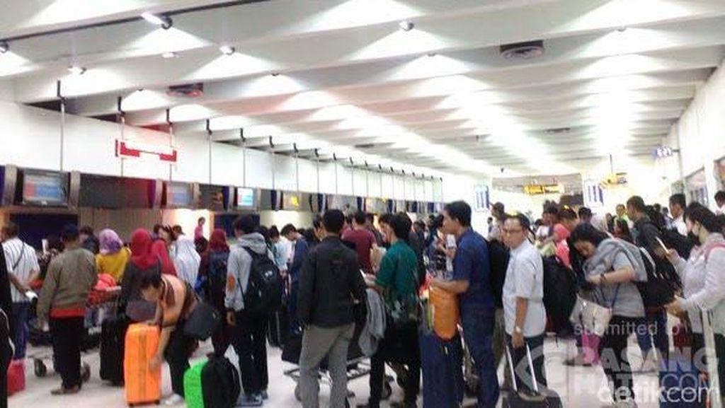 Antrean Pemudik Mulai Terlihat di Bandara Soekarno-Hatta