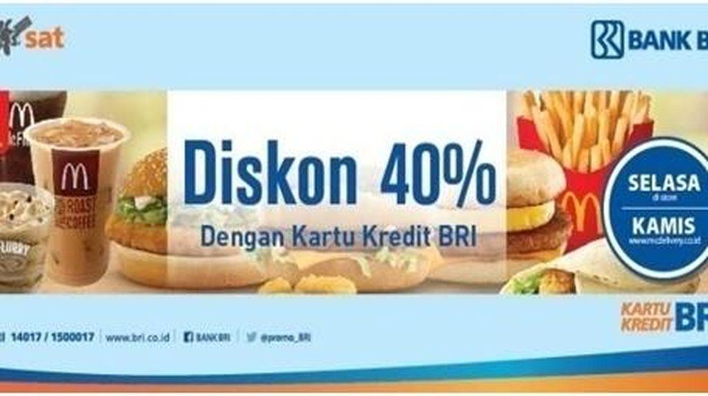 McDonalds Diskon 40%