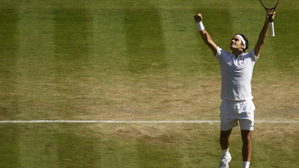Kalahkan Cilic, Federer Melaju ke Semifinal