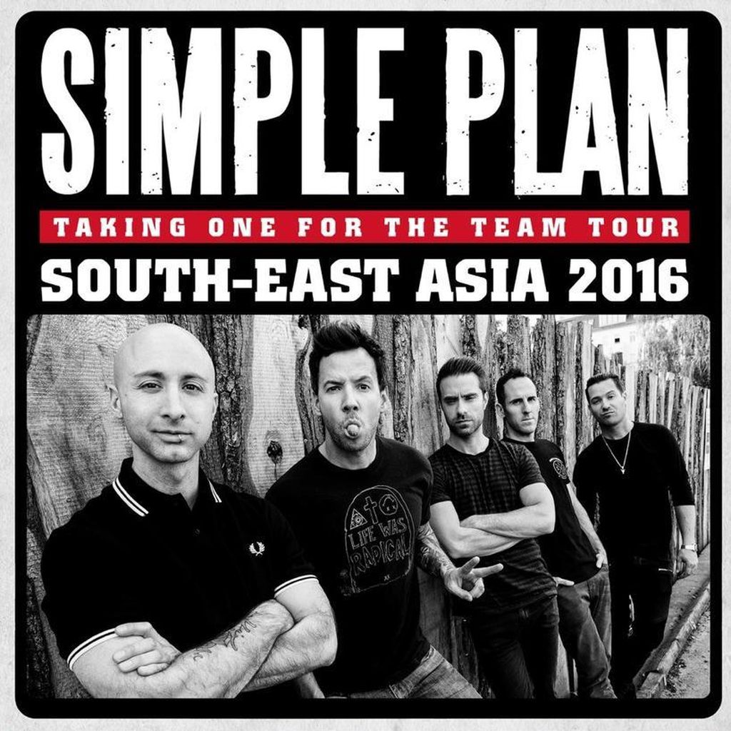 Simple Plan Konfirmasi Gelar Konser di Jakarta 4 September