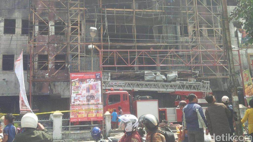 6 Saksi Diperiksa Terkait Kebakaran di Pasar Aksara Medan dan Ramayana