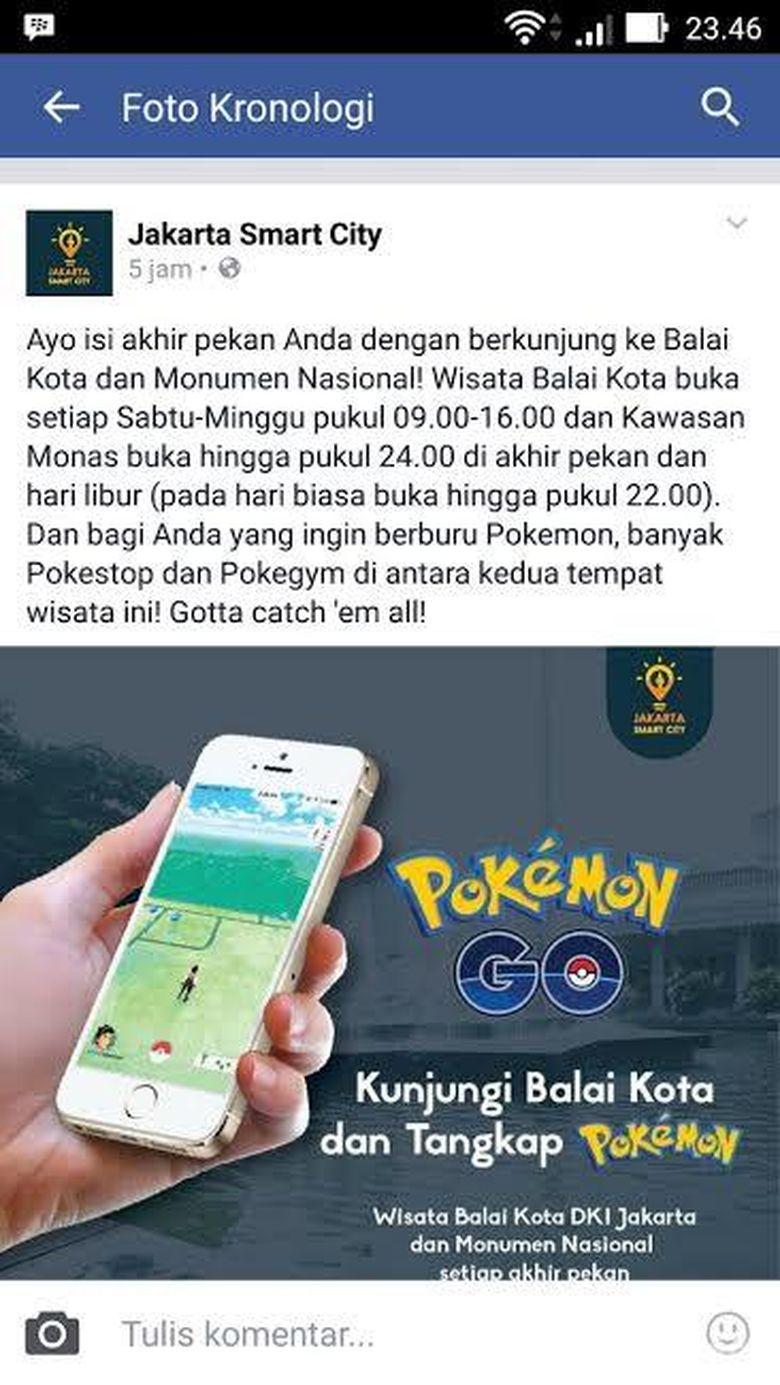 Anda Diundang Berburu Pokemon di Monas dan di Balai Kota DKI
