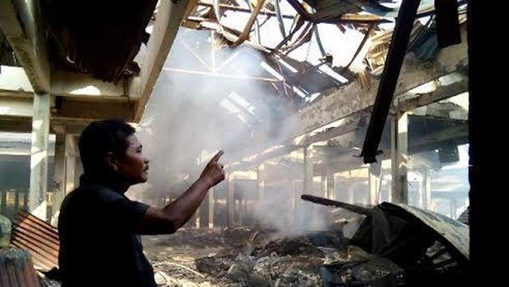 Api yang Membakar Pasar Sayur Magetan Padam, 770 Kios Hangus