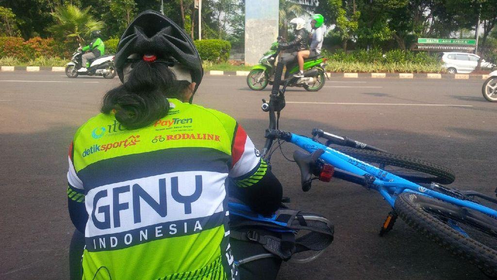 Tuan Rumah Lakukan Pengecekan Terakhir Rute Balapan GFNY Indonesia