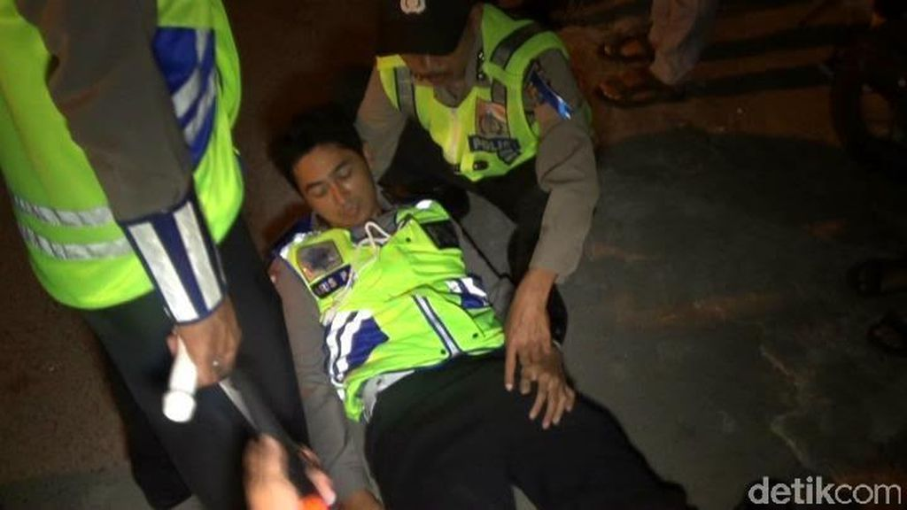Seorang Polisi di Kediri Patah Kaki Ditabrak Pebalap Liar, Pelaku Diburu