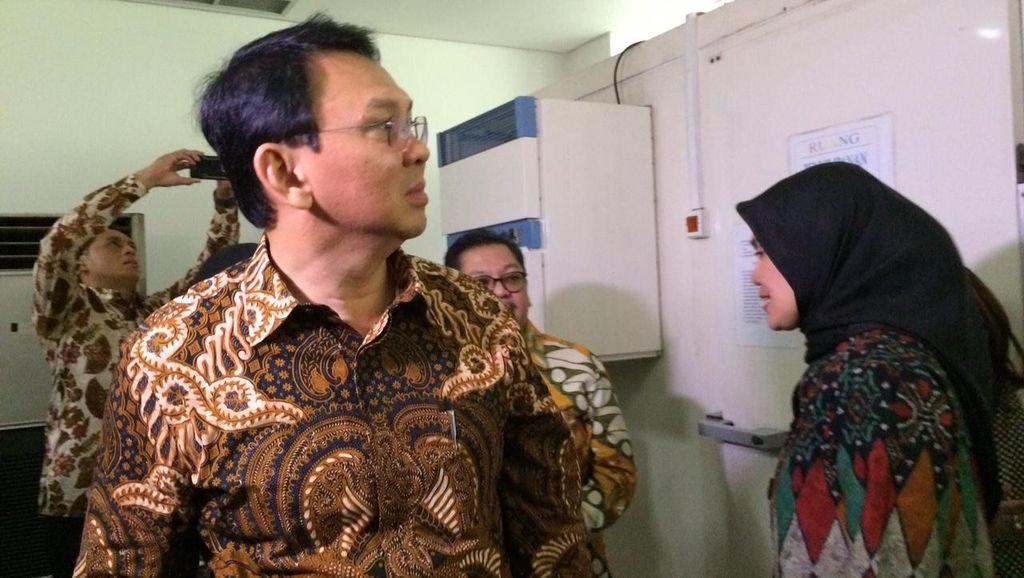 Ahok Periksa Tempat Penyimpanan Vaksin untuk Stok se-DKI Jakarta