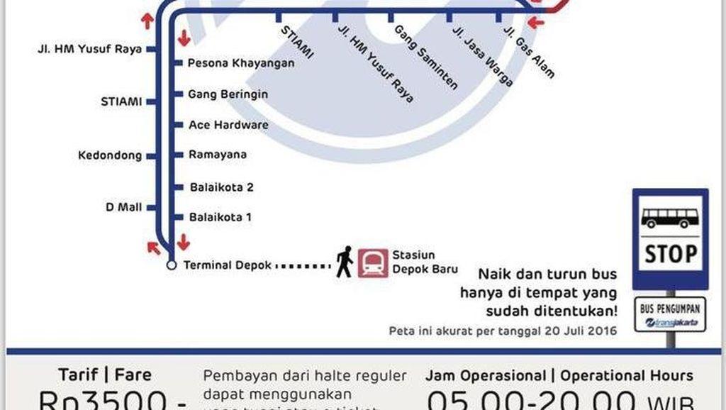 Bus TransJ Rute Depok-UKI Kini Lewat Cibubur