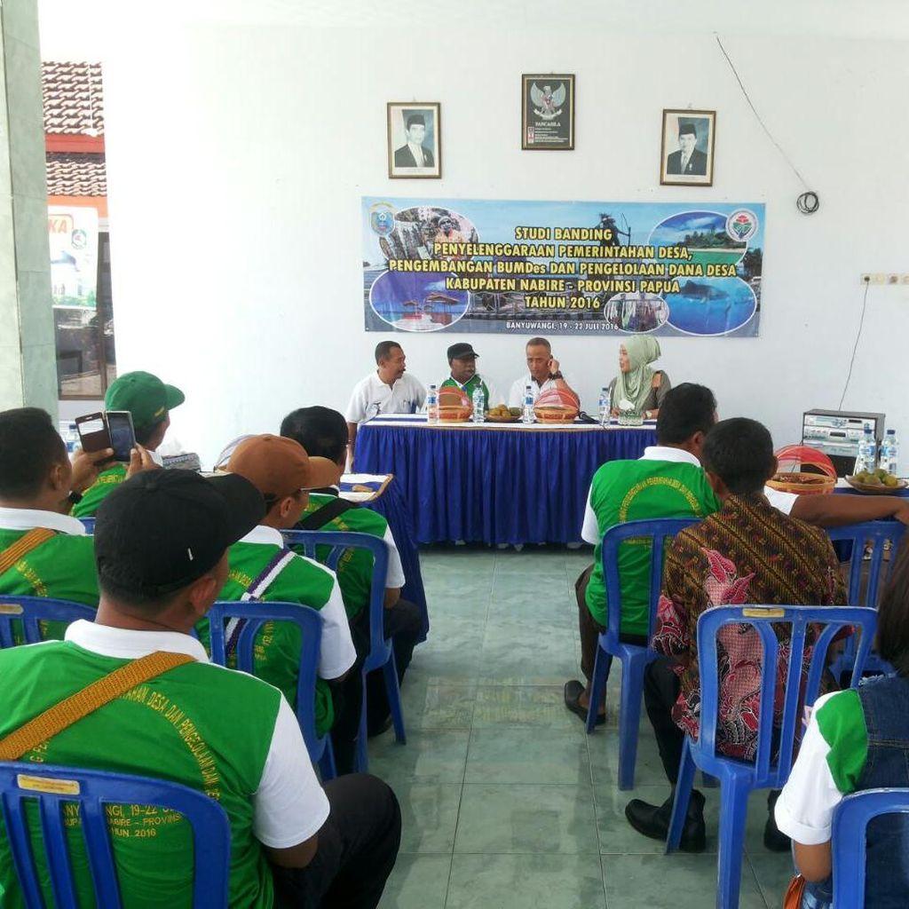 32 Perangkat Desa asal Nabire Papua Belajar Smart Kampung di Banyuwangi