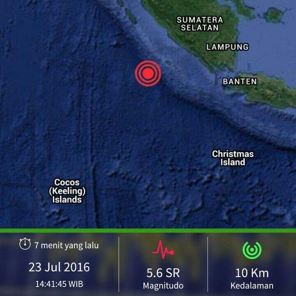 Gempa 5,6 SR Guncang Bengkulu
