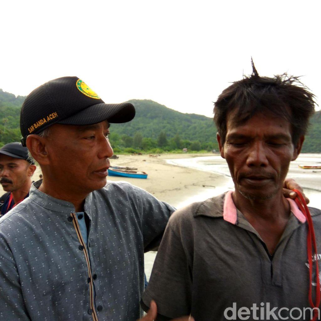 Tiga Nelayan Aceh Besar Berhasil Dievakuasi Setelah Kapalnya Karam