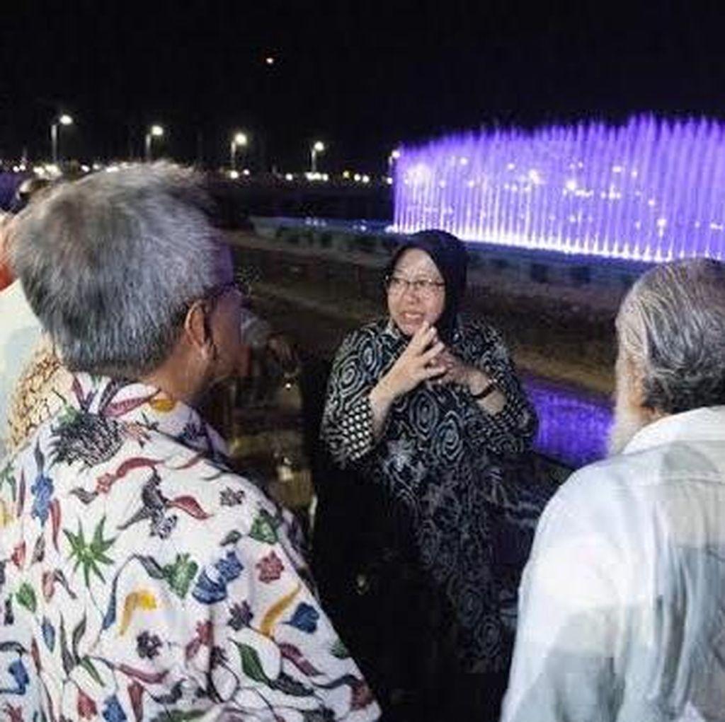 Menteri dan Delegasi PrepCom 3 for Habitat III Nikmati Air Mancur Menari