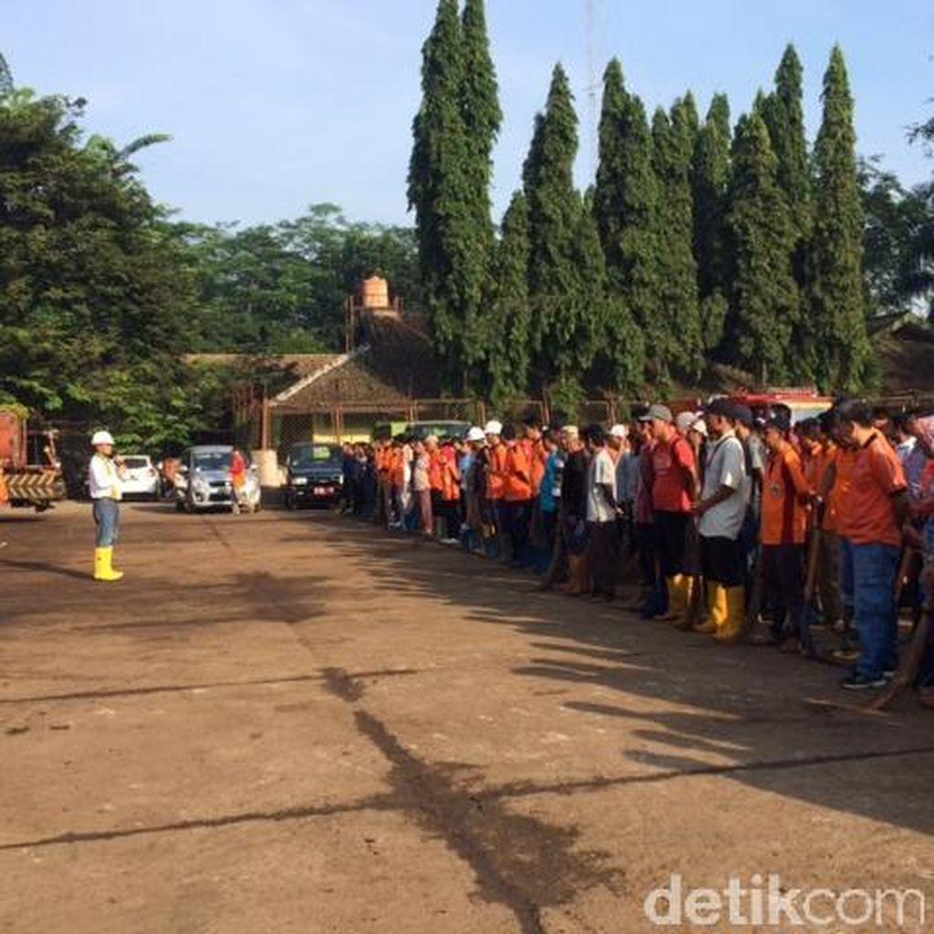 Kerja Bakti di TPST Bantargebang, Dinas Kebersihan DKI Ajak Eks Pekerja GTJ