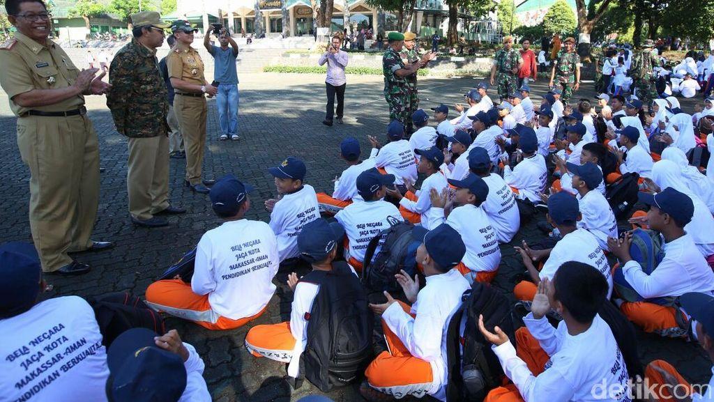21.000 Siswa Baru di Makassar Dilatih Pendidikan Bela Negara oleh TNI