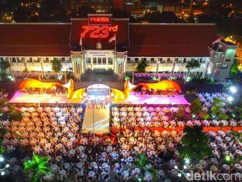 Dinner Bareng Walikota Risma, Delegasi Prepcom3 Dihibur Ratusan Reog