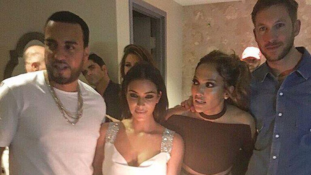 Pasca Drama Taylor Swift, Kim Kardashian dan Calvin Harris Party Bareng